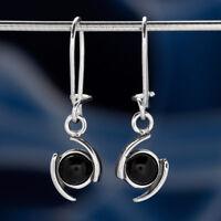 Onyx Silber 925 Ohrringe Damen Schmuck Sterlingsilber H0546