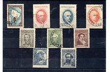 Argentina Personajes valores del año 1937-39 (BO-382)