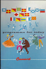 Cunard Lines Queen Elizabeth Programme for Today March 1 1963 Nassau Cruise