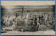 CPA: M'COUN (Maroc Oriental) - Construction d'un Puits par le 2° Génie / 1918
