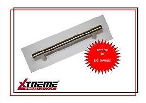 T Bar Door Handles- 128cc 168L Satin Nickel Pack 20 Kitchen Cupboard Handle Knob