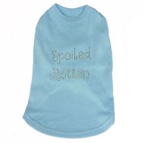 Spoiled Rotten  Blue Dog Tank Shirt Top  Tee T-Shirt Pet Clothing