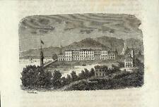 Stampa antica REGOLEDO PERLEDO Bellano Lecco Lago di Como 1859 Old antique print