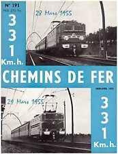 Chemins de fer n°191 - Mars-Avril 1955, revue AFAC