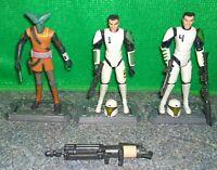 Star Wars Clone Wars 501st Clone Trooper Cadet CUTUP + HEVY + EL-LES Lot
