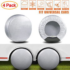 """New listing Tire Covers Waterproof Aluminum Film Sun Protectors Set of 4 Fits 27"""" to 29"""""""