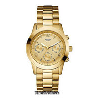 NEW GUESS WATCH for Women * Chronograph * All Gold Tone Stainless Steel U13578L1