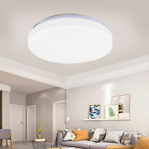 8'' 10'' Dimmable Modern Ultra Slim LED Ceiling Light Flush Mount Fixture Round