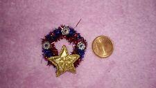 Adventskranz Türkranz Weihnachten Puppenstube 1:12 Miniatur dollhouse Stern