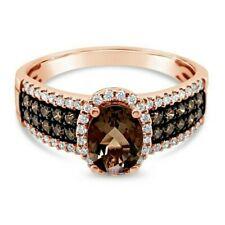 LeVian® Ring Smoky Quartz Chocolate Diamonds® Vanilla Diamonds® 14K Rose Gold