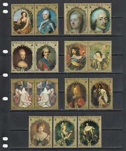 Kings of France  Rubens Painting Art Chad MNH 7 sets perf lot