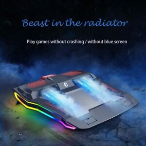 New RGB Gaming Laptop Cooling Pad Adjustable Notebook Stand For 12-17 in Laptop