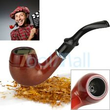 New Solid Wood Acrylic Wooden Smoking Pipe Tobacco Cigarettes Cigar Pipes Gift
