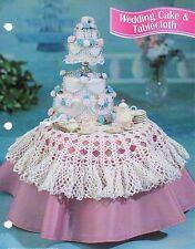 WEDDING CAKE & TABLECLOTH FASHION DOLL CROCHET PATTERN INSTRUCTIONS