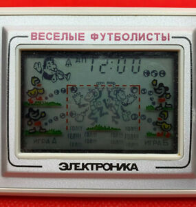 "RARE Game Electronics ""Funny football players"" Made in the USSR"
