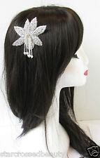 AÑOS 20 PLATA PERLA vintage flor Peineta Gran Gatsby Boda Accesorio para pelo