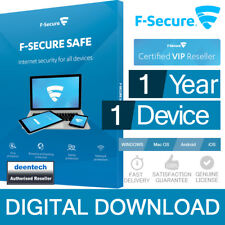F-Secure Safe 2018 (1PC/1Year) Antivirus Internet Security 1 User PC/Mac Genuine