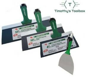 "USG Sheetrock 8'',10'', 12'' Pro Drywall Set w/ 5"" Matrix Carbon Steel"