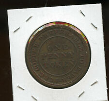 1813 NOVA SCOTIA CANADA ONE PENNY TRADE AND NAVIGATION TOKEN eb27
