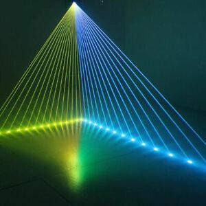 1W DMX Vollefarbe Laser 3D Animation Laser DJ Projektor Disco Party 1Watt 1000mW