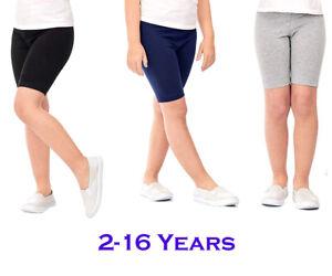 Kids Girls Cotton Cycling Shorts School Dancing Running Gym Sports Stretch Pants