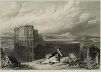 J.T. WILLMORE (*1800), Lord BYRON v. d. Kolosseum i. Rom, 19. Jhd., Stahlst.