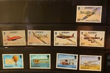 Jersey Aircraft & Aviation Stamps Lot of 40 - MNH  - See Details for List