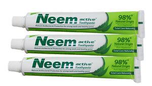 Zahnpasta Neem active , 3 Tuben á 125 g, indische Zahnpasta