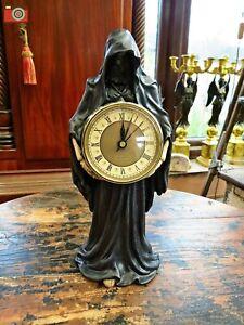 FINAL HOUR, GRIM REAPER CLOCK. 28.5 cm. Gothic, Horror. Nemesis Now.