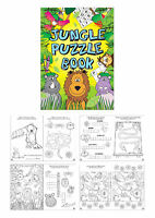 6 Jungle Puzzle Books - A6 Size - Small Loot/Party Bag Fillers Wedding/Kids