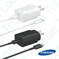 Original Samsung Galaxy Note 10 25W Super Fast Wall Charger Type-C Data Cable