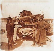 Canons contre avions Première Guerre mondiale 1914-18 WW1 Plaque Stereo Vintage