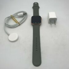 Apple Watch Series 5 (GPS) Gold Sport 40mm w/ Green Sport Excellent Condition