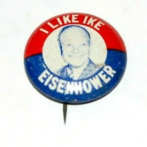 1952 Dwight Eisenhower I LIKE IKE campaign pin pinback button badge political