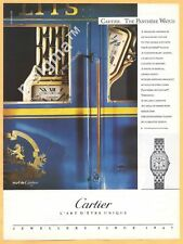 CARTIER .THE PANTHERE WATCH 1988 Vintage Print Ad