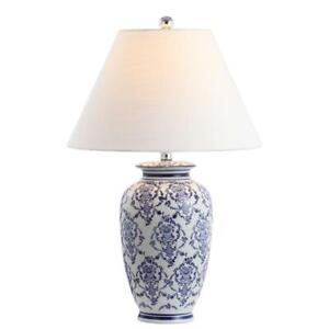 Juliana 26.25 in. Chinoiserie Ceramic LED Table Lamp, Blue/White by JONATHAN Y