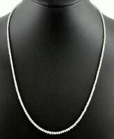 Diamant Kette Edelsteinkette Weiß Facettierte Top Qualität Collier Edel 44 cm