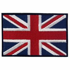Embroidered Patches Iron On Sew Badges Appliques British Union England UK Flags