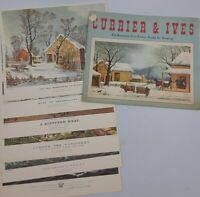 """CURRIER & IVES Vintage Prints 6 BEAUTIFUL COLOR PRINTS READY FOR FRAMING 12""""x10"""""""