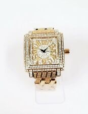 NEW TECHNOTREND GOLD,CRYSTALS,BLING,GLITZ DIAL,BRACELET BAND WATCH ET-1257