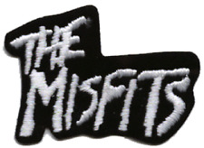 19179 Misfits Black & White Logo Punk Rock 77 Horror Embroidered Iron On Patch