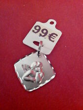 """medaille ange or blanc 18 carats (750/1000) """"gravure offerte"""""""