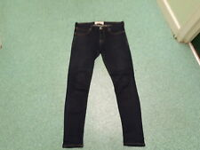 """French Connection Extra Skinny Jeans W 30"""" Leg 30"""" Faded Dark Blue Ladies Jeans"""