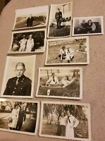 LOT 9 Vintage 1920's MILITARY Army Navy Soldiers WWII Snapshots Sailor PHOTOS