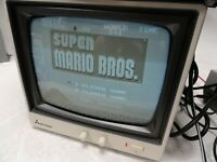 "Mitsubishi M-0923 9"" Black & White CRT Retro Gaming Monitor"