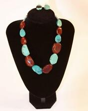 Jewelry Turquoise Brown Stones Jxcz New Necklace & Earrings Set Premium Fashion
