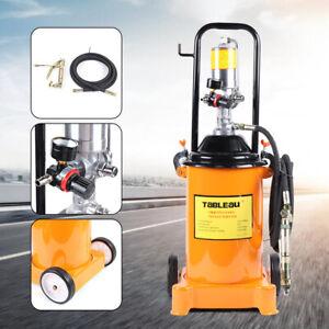 12L Air Operated High-Pressure Grease Pump w/ 1Pc Pneumatic Hydraulic Hose