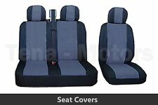 2+1 Front Seat Covers+Headrest Black / Grey FOR OPEL VAUXHALL VIVARO MOVANO