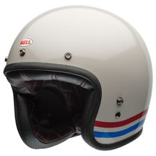 Bell Custom 500 Stripes Pearl White Motorcycle Helmet Medium 57-58 Cm Bh7070157
