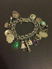 Charms Bracelet 7.5� Vintage Sterling Silver 16